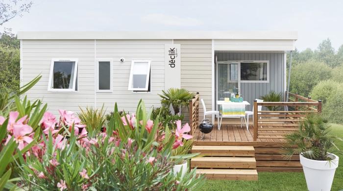 Mobil home 3 chambres avec terrasse à l'o2 camping en Normandie