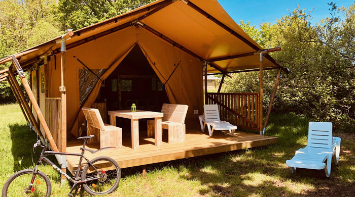 Réserver tente luxe camping Granville