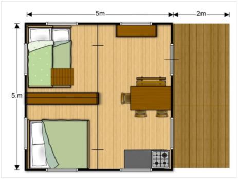 Plan tente de luxe 2 chambres